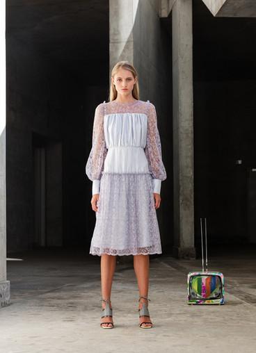 INTRIGO VISCOSE LACE DRESS