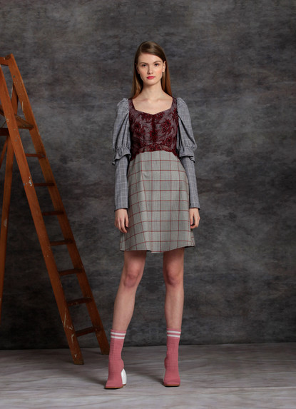SOPHIE CHECK DRESS
