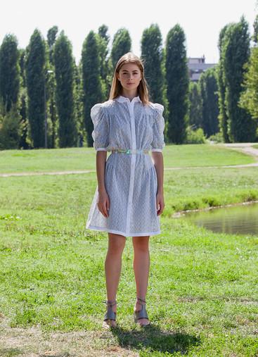 STRIPE SANGALLO SHIRT DRESS