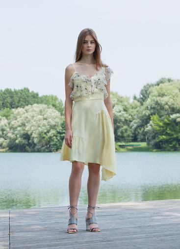 CUPRO ASYMMETRIC DRESS