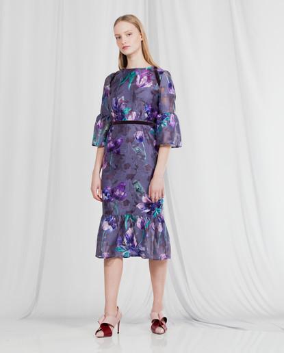 FIL COUPE' TULIP PRINT DRESS