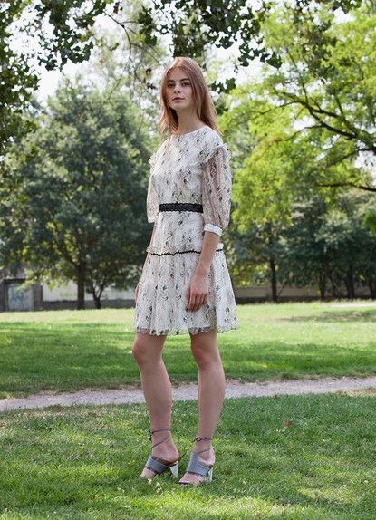 FLORAL CHANTILLY LACE DRESS