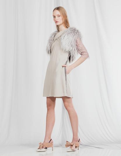 CROSS WRAPPING TUNIC DRESS