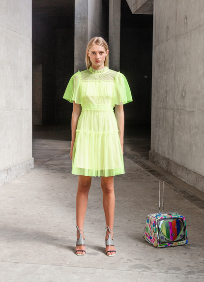 FLUO TULLE DRESS