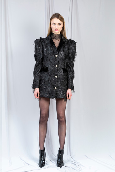 TRANSYLVANIA JACQUARD JACKET DRESS