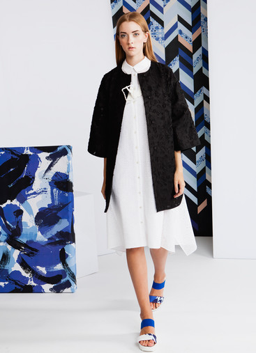 SILK JACQUARD COAT