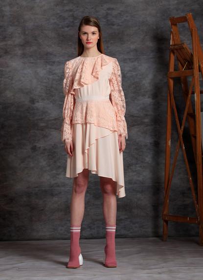 TENCEL ASYMETRIC DRESS