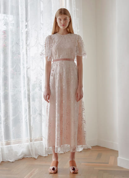 FLORAL EMBROIDERY GOWN