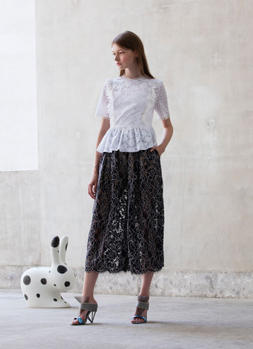 FIORI SANGALLO TOP & LACE PANTS