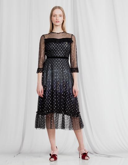 MIDNIGHT PARIS STAR TULLE DRESS