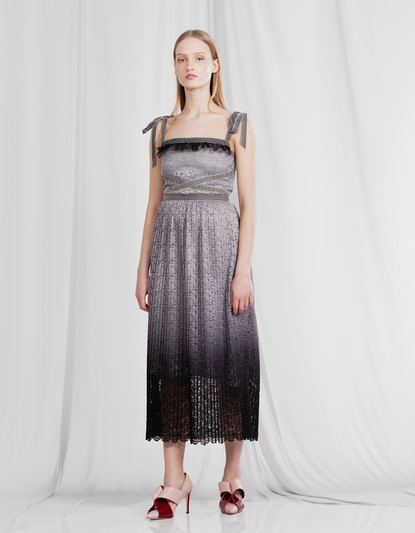 DEGRAE' PLISSE' LACE DRESS