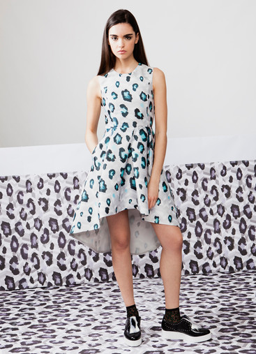 PRINT MIKADO DRESS