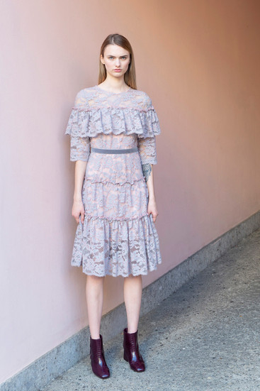 WOOL LACE DRESS