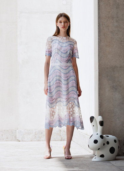 RAINBOW WAVE LACE DRESS
