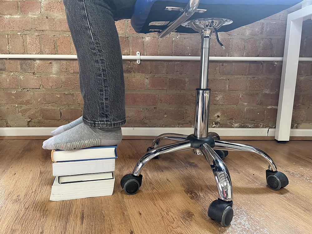 books as footrest