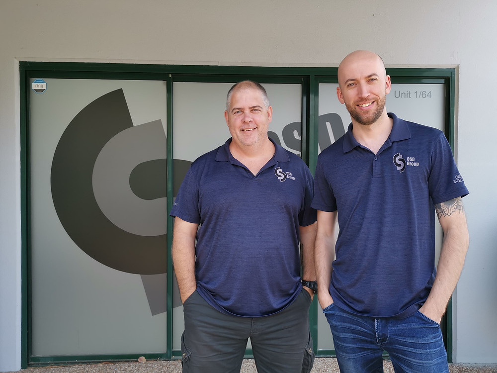From left: Paul Wagner, CSD Group Australia Partner and Director for Drafting Services and Michael Williams, CSD Group Australia Partner and Director for Field Services