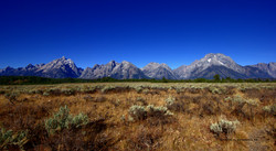View of Tetons from Potholes area