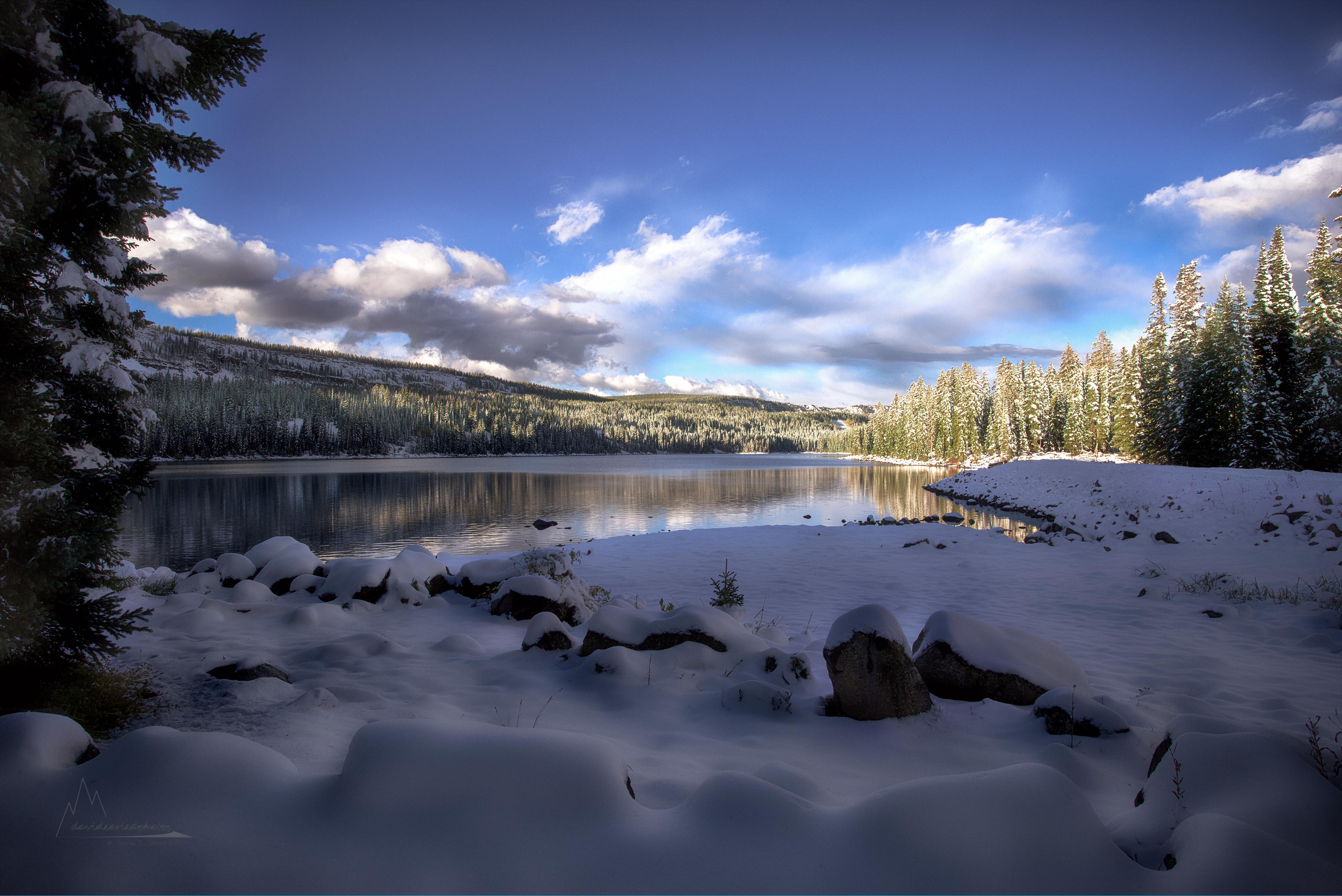 Snowy Colorado Lake