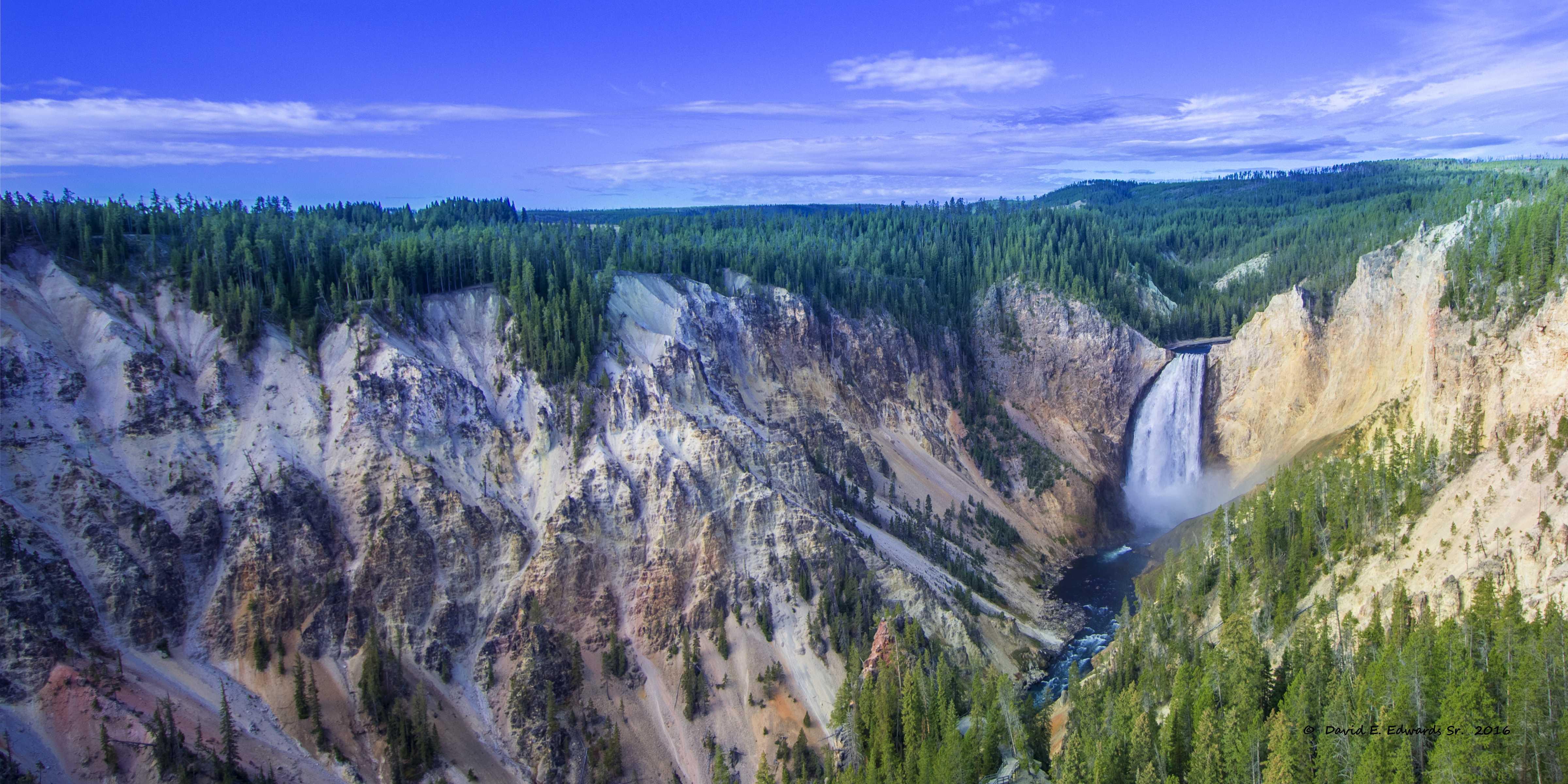 Lower Falls- Yellowstone b