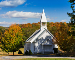 Country Church-  Fall Colors