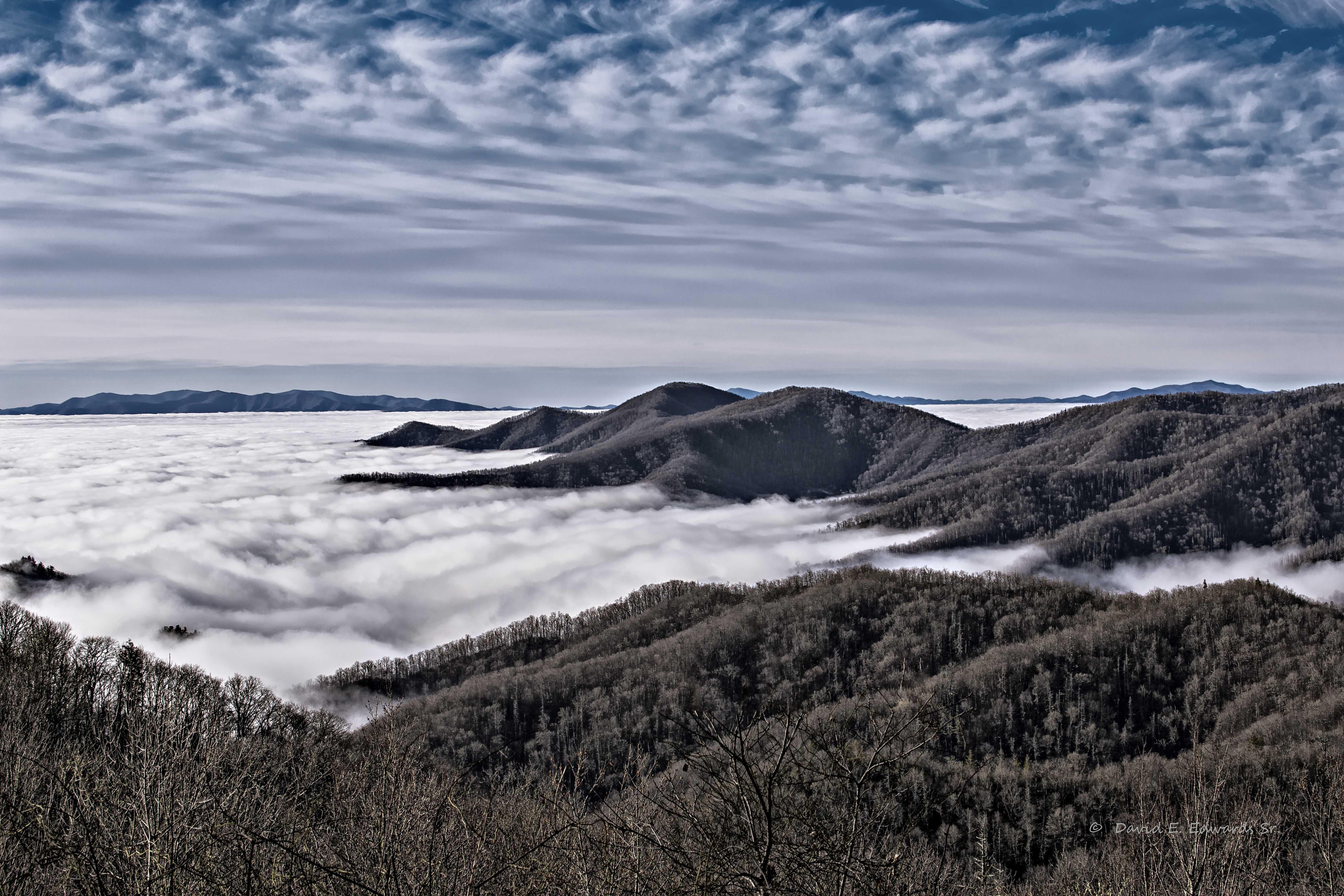 Smoky Mountains Winter Fog a