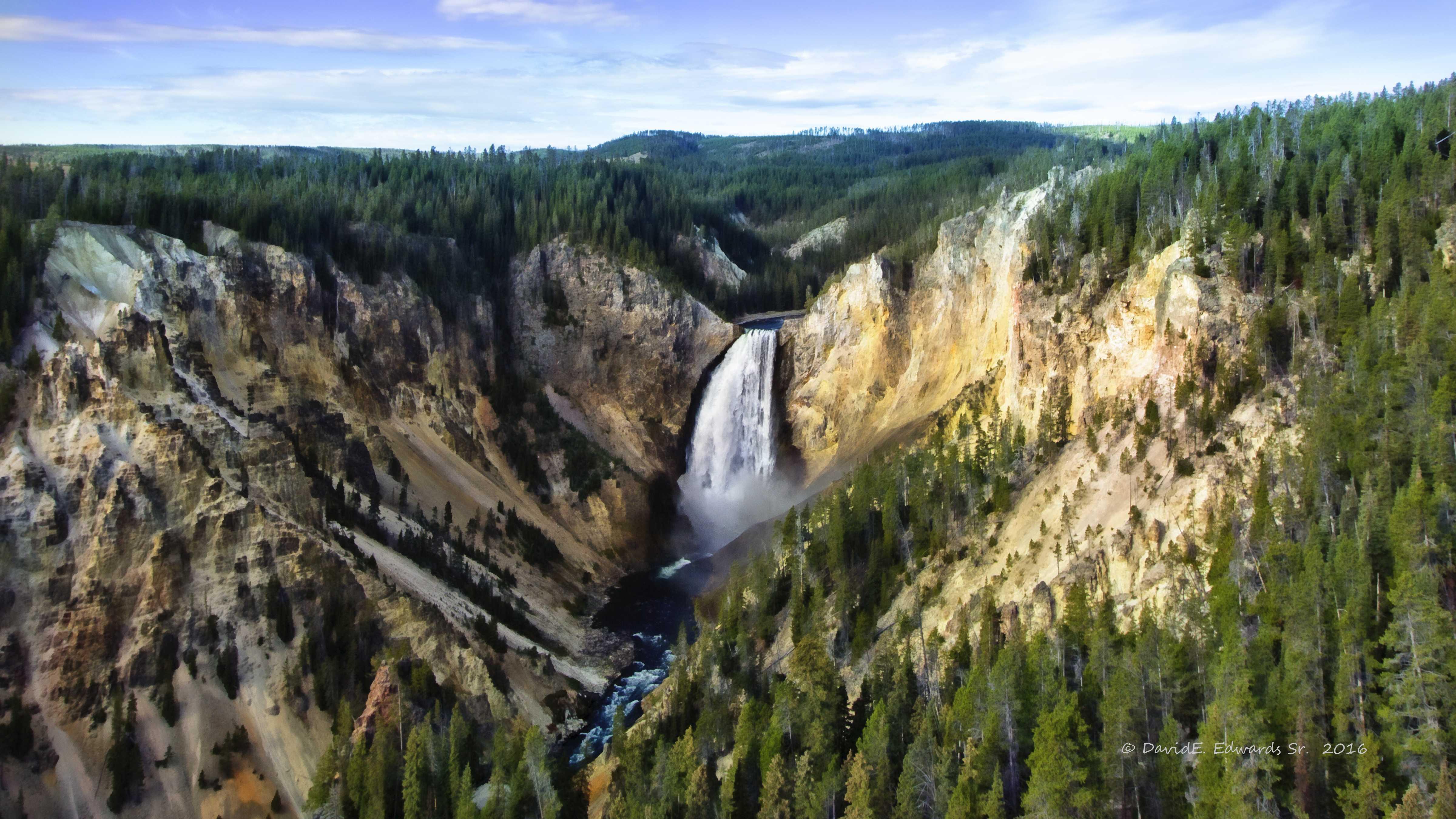 Lower Falls- Yellowstone- Photo art