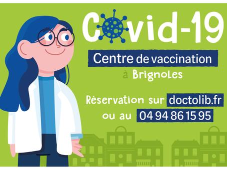 Centre de vaccination Covid-19 à partir du lundi 18 janvier