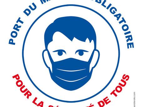 Port de masque obligatoire dans tout l'espace public