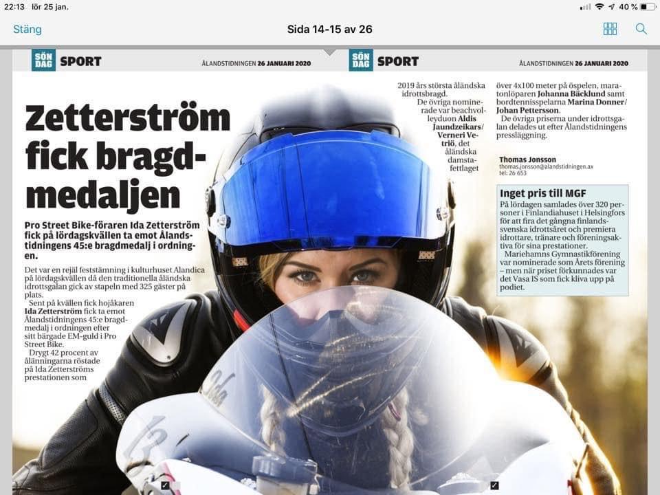 "Ida Zetterström ""Årets Bragd"""