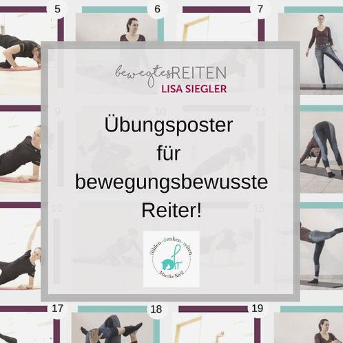 Übungsposter für Reiter - Kraft, Koordination & Beweglichkeit