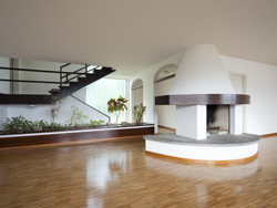 Curved Fireplace Design