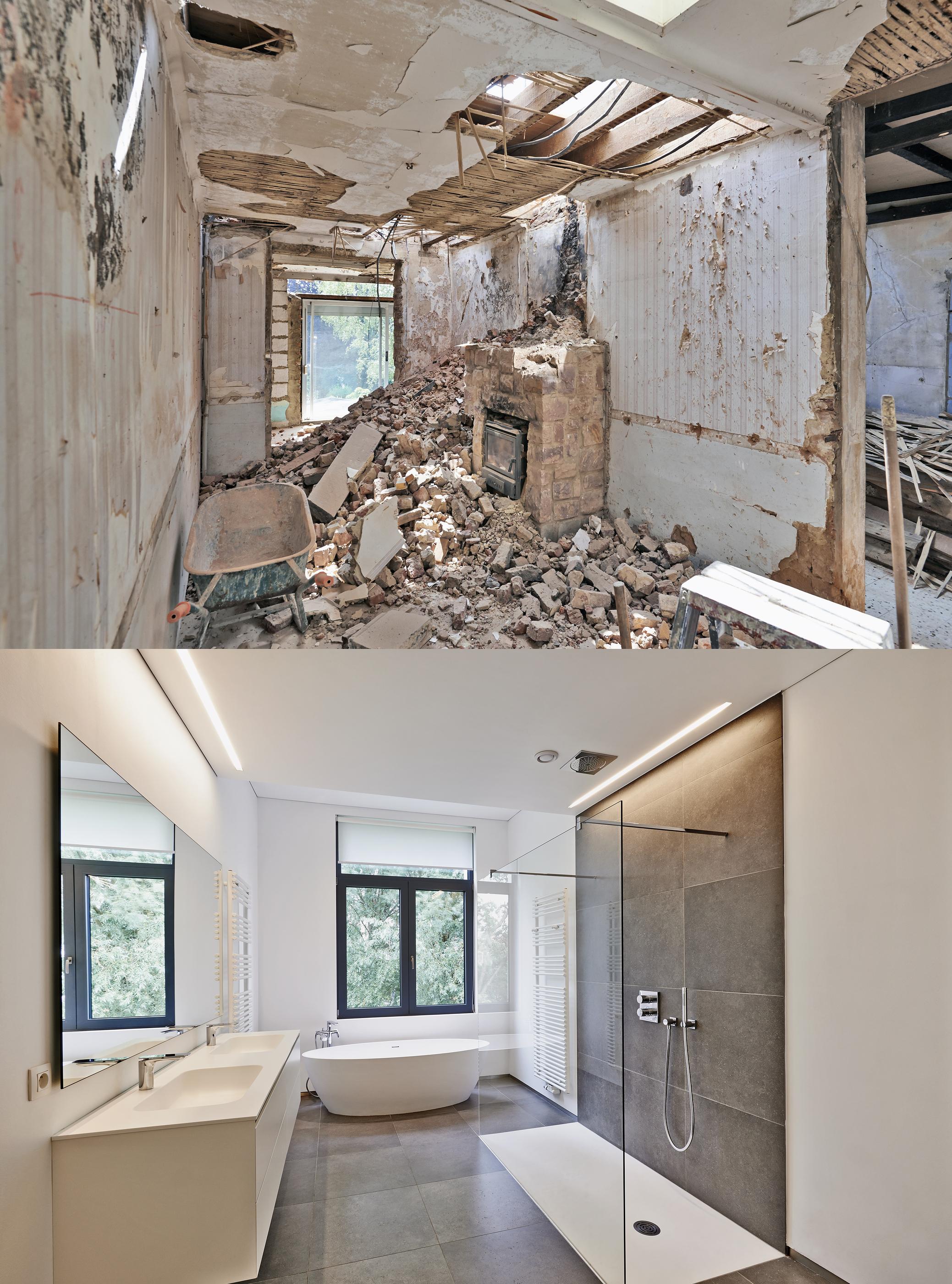 Renovation Of A Bathroom