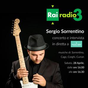 SERGIO on Italian National Radio RAI RADIO TRE