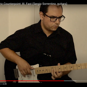 New Video on YouTube! Steve Reich - Electric Counterpoint - Sergio Sorrentino (Guitars)