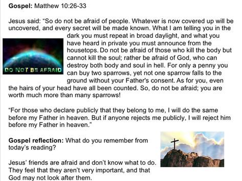 Children's Liturgy: 21st June part 1