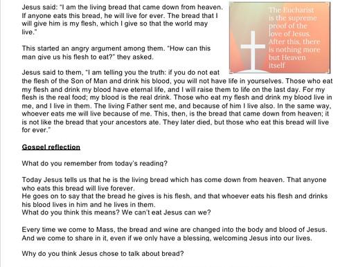 Children's Liturgy: Corpus Christi part 1