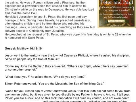 Children's Liturgy: 28th June 2020 part 1