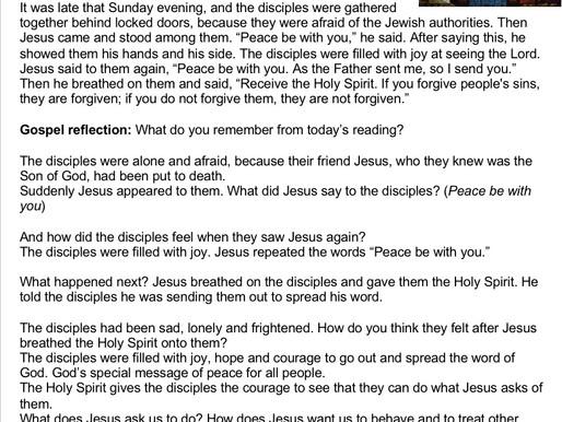 Children's Liturgy: Pentecost part 1