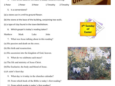 Children's Liturgy: 5th Sunday of Easter  part 2