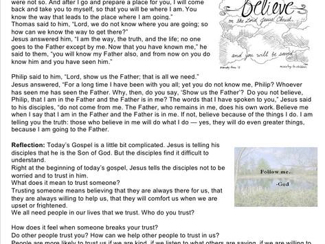 Children's Liturgy: 5th Sunday of Easter  part 1