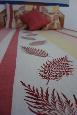 Fern Pattern in Red
