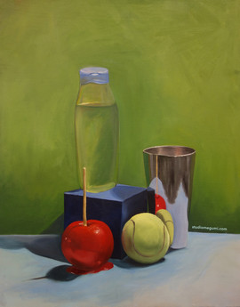 Still Life with Dish Soap and Tennis Bal