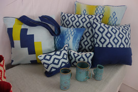 Dhaka Pattern in Blue and Yellow
