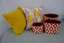 Dhaka Pattern in Yellow and Red
