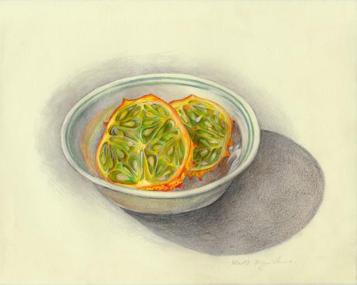 Kiwano Fruit in a Bowl