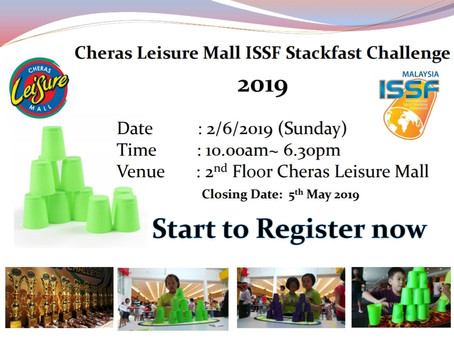 Coming soon our cups stacking 2nd of June 2019, Is time to pratice