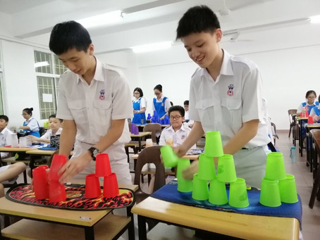 They learn about what is sport stacking in their class in secondary school. Try cups stacking.