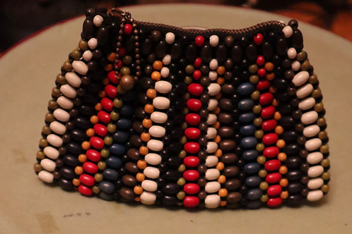 1930s Wooden Beaded Small Purse