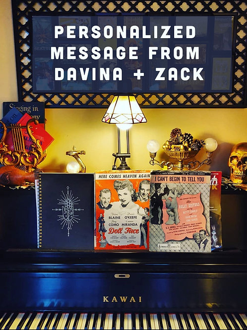 Personalized Message and Song / Davina and Zack