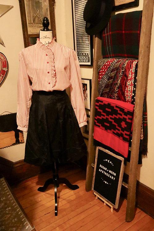 1980s Striped Jolene Fashions Ruffled Blouse